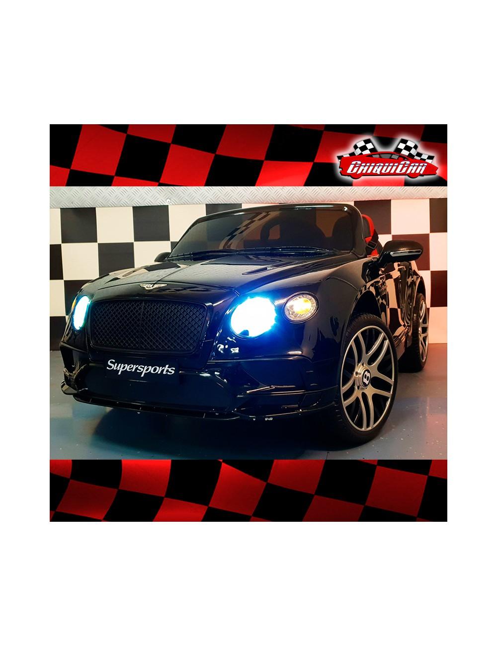 Bentley Continental Negro Metalizado Coche Electrico Infantil 12v
